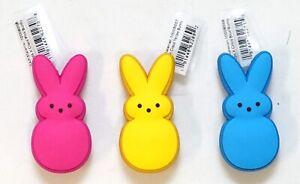 New Peeps X Crocs Pink Yellow Blue Bunny Jibbitz Set Of 3 Crocs Shoe Charms
