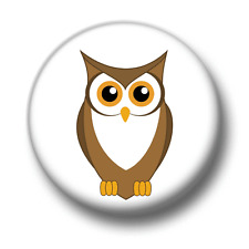 Owl 1 Inch / 25mm Pin Button Badge Owls Birds Of Prey Twit Twoo Cute Kitsch Fun