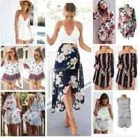 UK Summer Womens Celeb Sexy Mini Playsuit Ladies Jumpsuit Shorts Beach Sun Dress