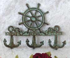 Eisen Wandhaken Schiffsteuerrad Kleiderhaken Garderobe Garderobenhaken Antik