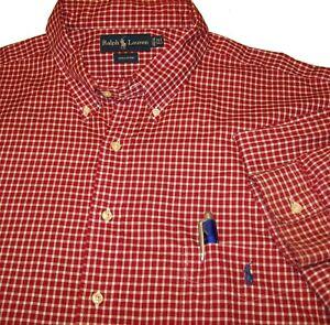RALPH LAUREN Designer Shirt (3XLT) 19.5 x 38 TALL FIT Sewn Polo Pony Logo Pocket