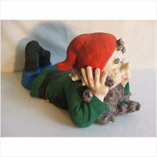 LATEX MOULD MOULDS MOLD.  13 INCH RELAXING GNOME