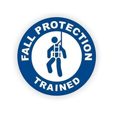 3pc Fall Protection Trained Safety Hard Hat Helmet Stickers Labels Harness Scaff