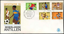 Netherlands Antilles 1985 Football FDC First Day Cover #C26766