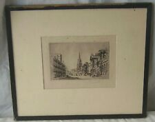 ARCHITECTURE ANTIQUE PICTURE FRAMED PRINT