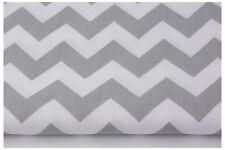 Chevron, Zig Zag  Fabric 100% Cotton  Grey