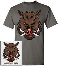 Wild Boar Head T-Shirt, Men Women Youth Kids Tank Long Personalized Tee Hog