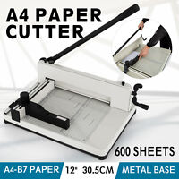 "12"" A4 Paper Cutters Guillotines Trimmers Office Manual Commercial Heavy Duty"