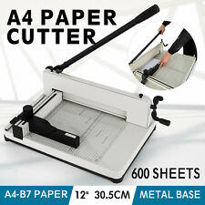 """12"""" A4 Paper Cutters Guillotines Trimmers Office Manual Commercial Heavy Duty"""