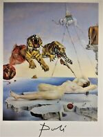 SALVADOR DALI HAND SIGNED * DREAM CAUSED BY THE FLIGHT OF A BEE..