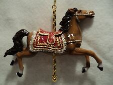 "KSA ""CAROUSEL HORSE"" Ornament ~  BROWN ~ New"