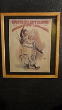 Vintage Strobridge Litho Barnum and Bailey Evetta The Lady Clown Copyright 1893