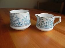 A  small bone china  MILK JUG  and SLOP BOWL made by E J D BODLEY   C 1880