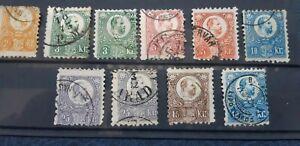 Hungary 1871 Mi 8-13 stamped