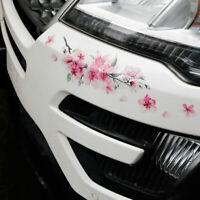 Pink Cherry Blossom Vinyl Car Sticker Auto Flower Decal Windshield Window Bumper