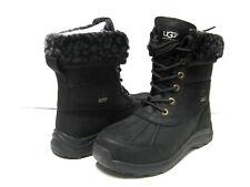 UGG ADIRONDACK III LEOPARD WOMEN BOOTS LEATHER BLACK US 6 /UK 3.5 /EU37 /JP23