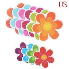 10 Flower Safety Treads Non-Slip Applique Stickers Decals Mat Bath Tub&Shower