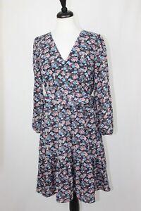NWT J.CREW RUFFLE HEM DRESS in Paisley Floral Size 8