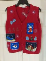 Vtg Holiday Editions Christmas Sweater Vest