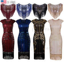 1920s Flapper Dress Gatsby Party Formal Prom Evening Dress Cocktail Retro Style