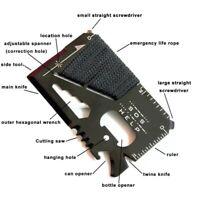 14in1 Multi-Tool Scheckkarte| EDC für Geldbörse |Outdoor Survival Notfall-Gadget