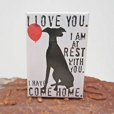 Greyhound Dog Rest Heavy Duty Art Magnet - Free Shipping ASAP