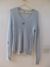 Banana Republic Reworked Pure cashmere Gauzy Knit Câble Pull Taille S