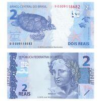 Brazil 2 Reais 2010  P-252c  Banknotes  UNC