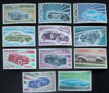 Timbre MONACO Stamp - Yvert et Tellier n°1018 à 1028 n* (voiture) (Cyn19)