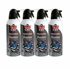 Air Computer TV Compressed 4 Cans Duster 10oz Dust Off Laptop Keyboard