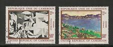 Cameroun #C295-296 Vf Cto - 1981 500fr Paintings By Picasso and Cezanne
