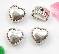 Wholesale 50Pcs Tibetan Silver Heart Spacer Beads loose bead A0136