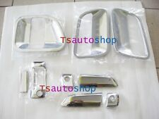SET CHROME 3 DOOR HANDLE BOWL COVER FOR VAN TOYOTA HIACE COMMUTER 2005-2014 V.2
