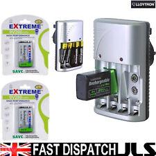 LLOYTRON Charger and 2 x 9V 280mAh Ni-Mh Batteries