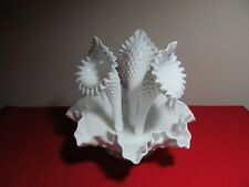 Fenton Glass Hobnail Three Horn Epergne