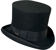 Top Hat Black Victorian SCALA Tuxedo Mad Hatter 100% Wool Dress Hat SMALL