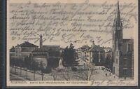 MÜC 37383) AK Rosenheim Kriegerdenkmal mit Königstraße 1930