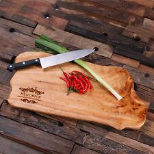 Personalized Custom Cedar Wood Cutting Chopping Board Engraved Gift Many Styles