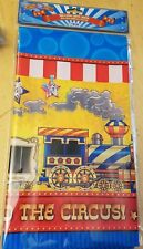 Ringling Bros Circus Carnival Table Cloth Party Kids Birthday Decoration Train