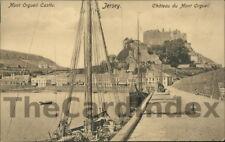 GOREY / GOURAY Mont Orgueil Castle Postcard JERSEY Peacock Series
