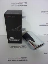 original Audi embellecedor tubo de escape / deflector Q2 1-flutig Cromo Plata
