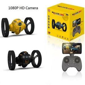 RC Car Flexible Wheels Rotation LED Night Bounce Robot 2.4G Jumping 2.0mp camera