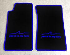 Autoteppich Fußmatten für Mazda MX 5 NA Miata schwarz blau yes it is my love Neu