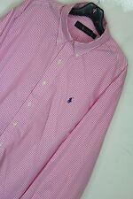 New Polo Ralph Lauren button down Striped Poplin Shirt XL Pink Striped #1051-52