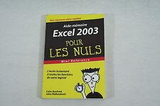 EXCEL 2003 pour les NULS format poche mini reference 2004 bon etat