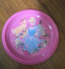 "Disney Princess' 8"" Pink Kid's Plastic Plate Cinderella Belle Frog Princess"