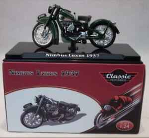 1:24 Maquette Nimbus Luxus Vert Classique Moto Miniature Atlas Ixo 1937