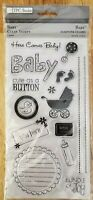 NEW! TPC Studio Clear Ink Stamps ~ BABY ~ 15 Stamps ~ Scrapbooking, Stamping