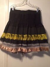 PLEASURE DOING BUSINESS LADIES FLAIR  PLEATED SKIRT SIZE L  EX/CON