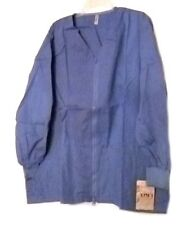Scrub Jacket 4XL Ceil Blue Gold Coast Zip Front V Neck Loft Uniforms Women's New